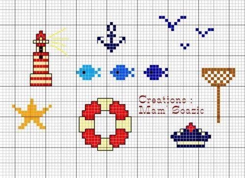 Marine cross stitch mini