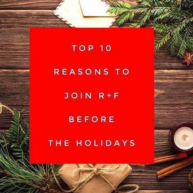 Open to a way to get more JINGLE in your budget for the holidays?! Here are some reasons to consider starting your business right NOW:  1. Your Business Kit is a tax write off for 2017!! 2. Give RF gifts either from your business kit or use your Consultant discount theyre also a tax write off for 2017!  3. Get a pay check before and after the holidays to help with expenses!  4. The SPARK Program is happening now! Earn $1000 BONUS in addition to your pay checks in your first 3 months.  5…