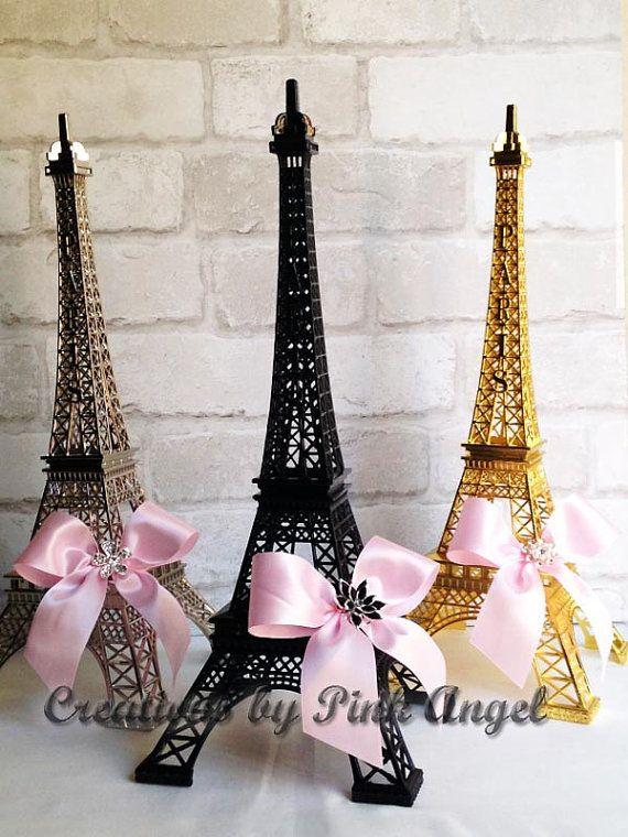 Centro de mesa Torre Eiffel de oro oro y por CreationsByPinkAngel