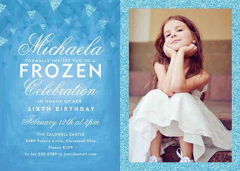 Winter Princess Birthday Party Invitation   simplytoimpress.com
