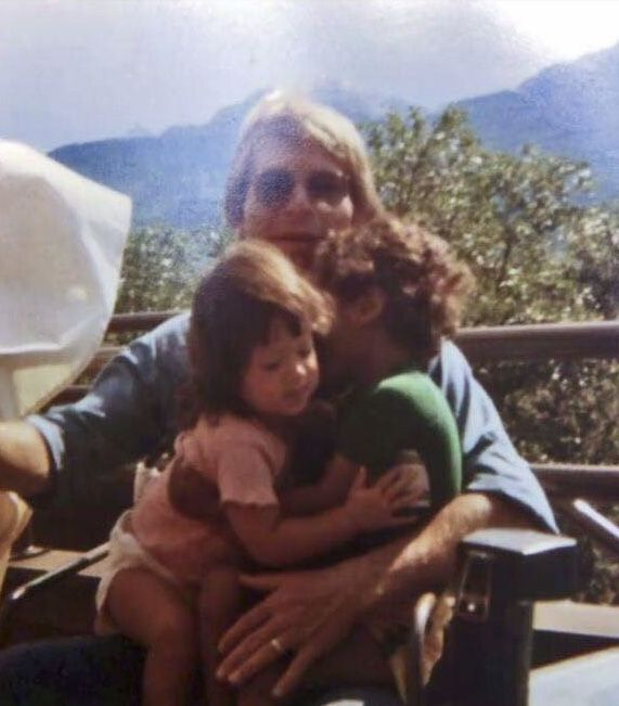 John Denver with daughter, Anna Kate, and son, Zachary.