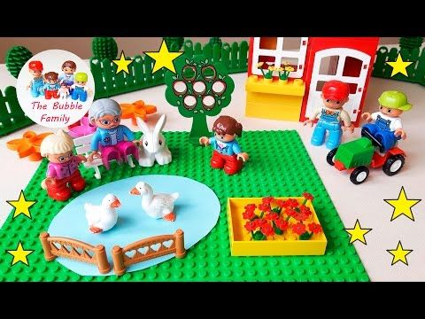 Lego Duplo video for children. Grandma Bubbles new garden!