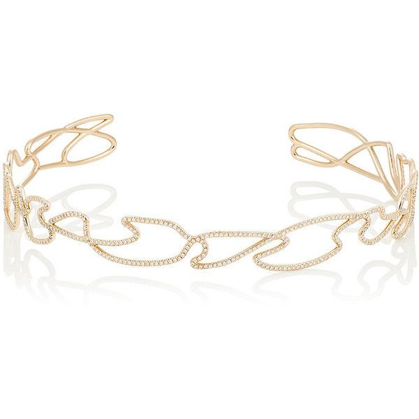 Repossi Women's White Noise Choker ($38,300) ❤ liked on Polyvore featuring jewelry, necklaces, red, red jewelry, pave jewelry, red necklace, 18 karat white gold necklace and choker necklace