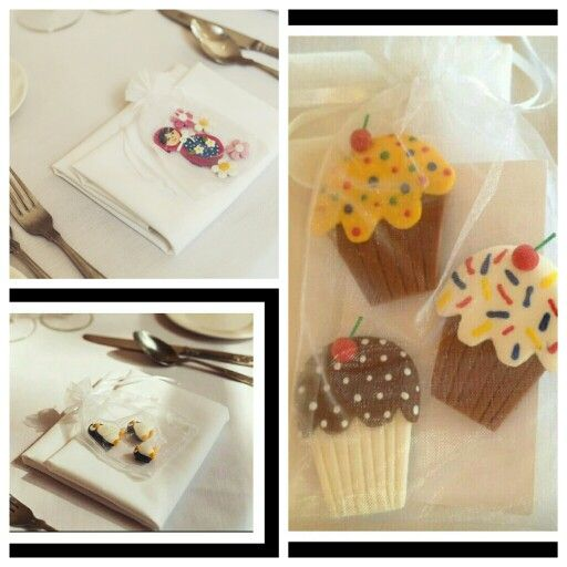 Cute magnets as wedding favours Made by Marina www.facebook.com/madebmarina