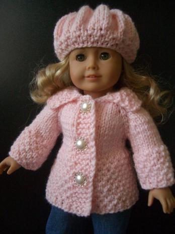 "BEGINNER Knitting (hand-knit) pattern american girl 18"" doll VIDEO"