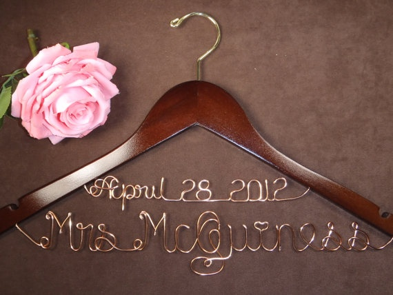 Hanger Deluxe with Date, Personalized Custom Bridal Hanger, Brides Hanger, Bride, Name Hanger, Wedding Hanger, Personalized Bridal Gift- Love this!