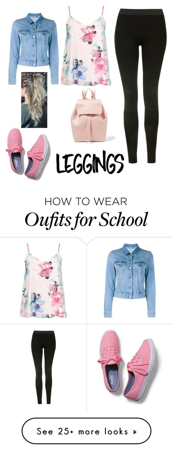"""""""back to school"""" by little-direction98 on Polyvore featuring Topshop, Dorothy Perkins, Acne Studios, Keds, Mansur Gavriel, Leggings and WardrobeStaples"""