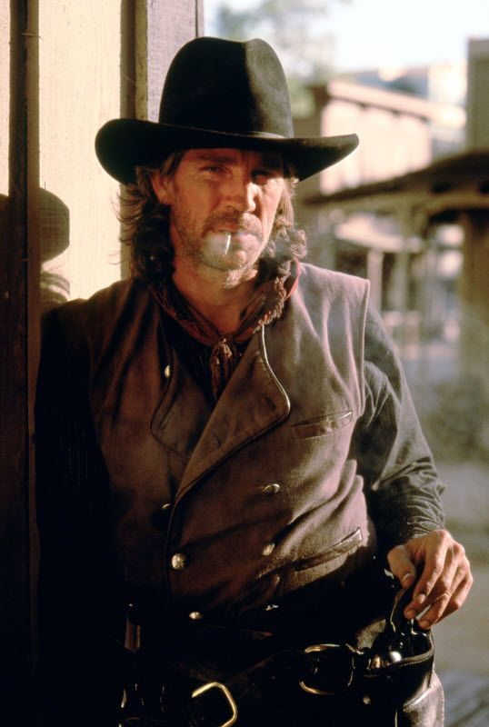 PURGATORY (1999) - Eric Roberts as outlaw 'Blackjack Britton' - Directed by Uli Edel - Made-for-TV movie for Turner Network Television - Publicity Still.