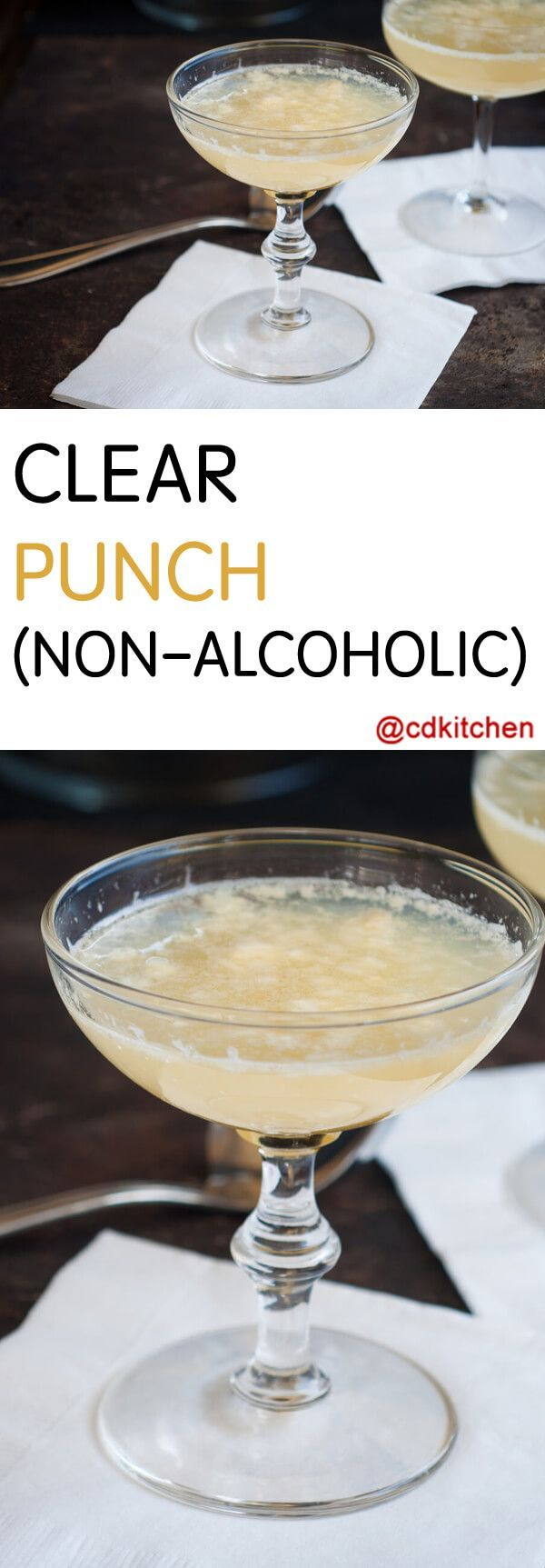 Clear Punch - Recipe is made with ginger ale, white grape juice, lemon-lime carbonated beverage | CDKitchen.com
