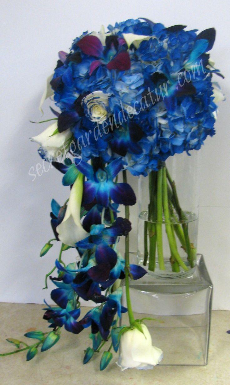 Royal Blue Hydrangea Saphire Blue Dendrobium Orchid