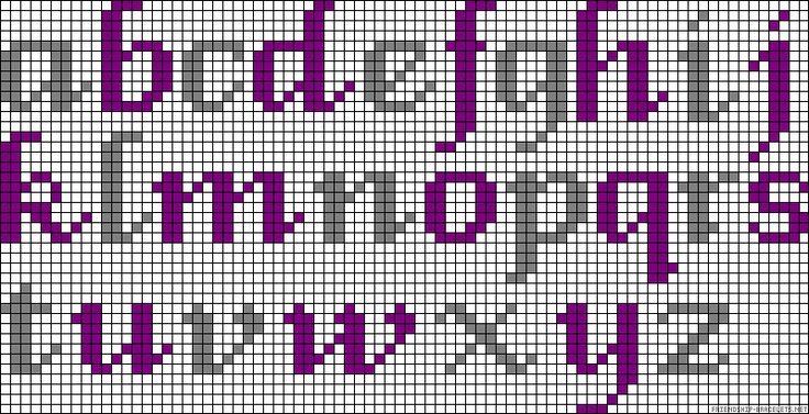 ABC perler bead pattern