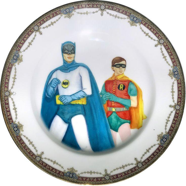 Vintage Heroes - Vintage Porcelain Plate - #0536 by ArtefactoStore on Etsy