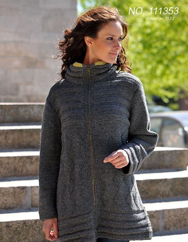 d9636992 Smart jakke med med lynlås og fine detaljer. Jakken er strikket i dejligt  blødt Lima