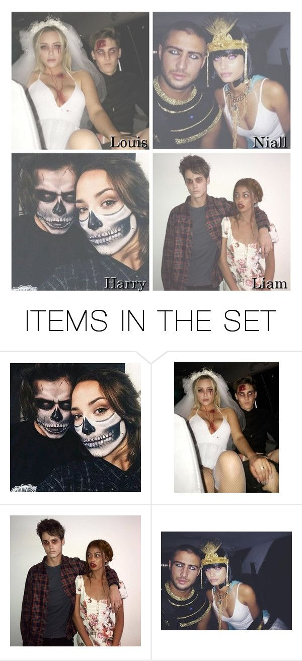 """""""Your matching halloween costume with him"""" by swaggxdirection ❤ liked on Polyvore featuring art"""