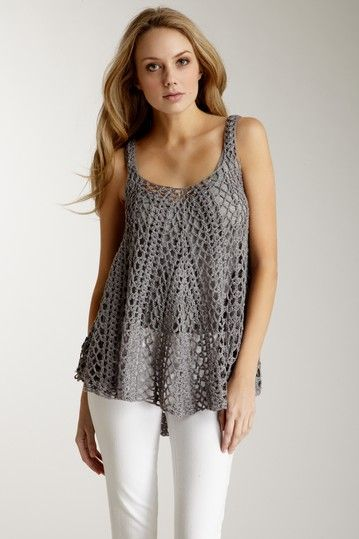 I have this, love it~ Mystree Crochet Cami Sweater crochet/tricot just inspiration... more: http://pinterest.com/gigibrazil/crochet-and-knitting-lovers/