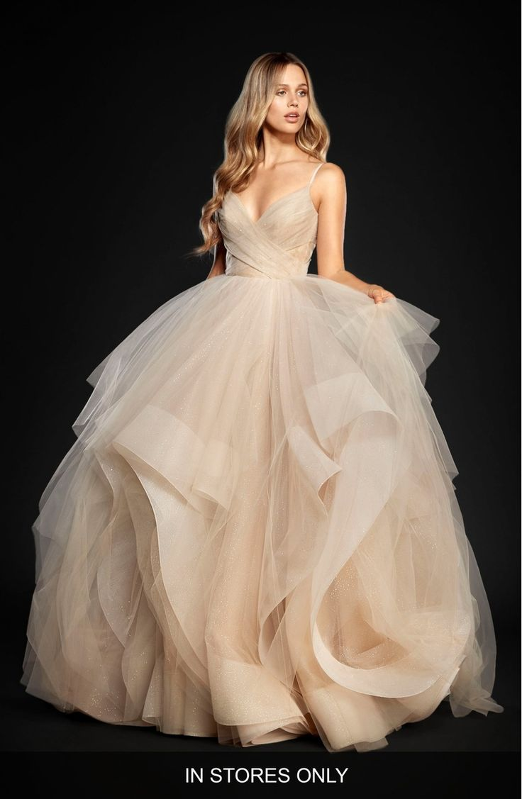 Main Image - Hayley Paige Chandon Stardust Tulle Ballgown (In Stores Only)
