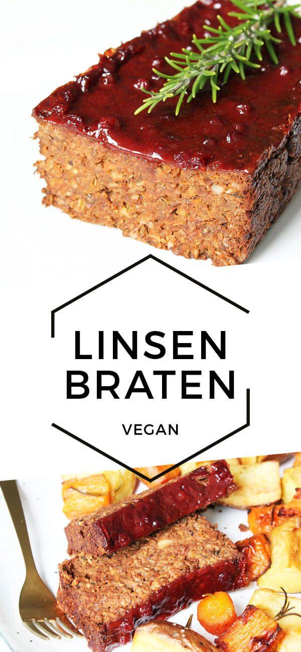 Veganer Linsenbraten – Günstiges & Fröhliches Kochen – Vegane Rezepte   – vegetarian