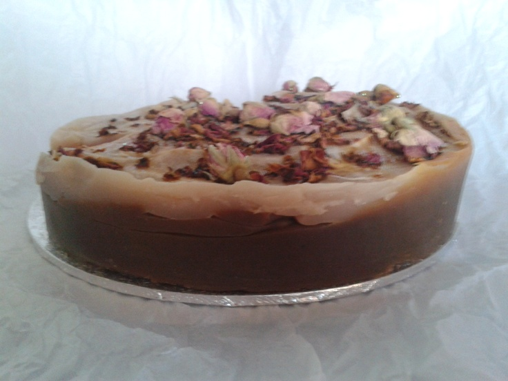 Turkish Delight Soap Cake Cocoa base with rose topping!