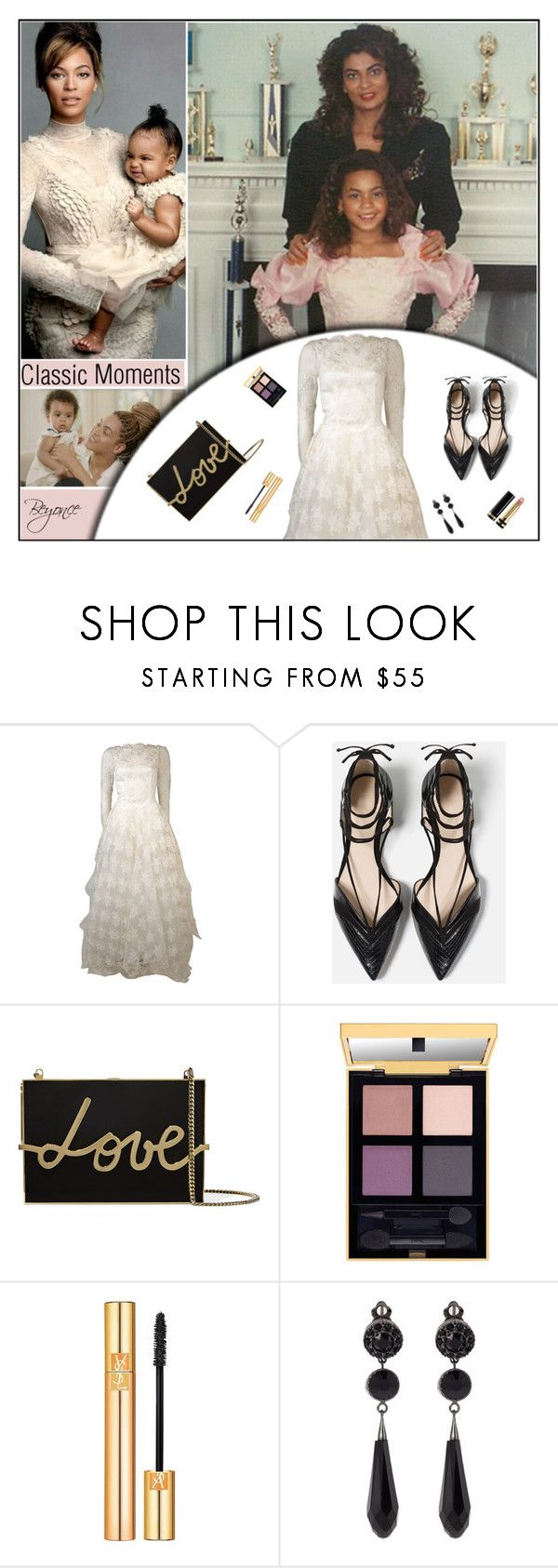 """""""Classic Moments/ Beyonce..."""" by melindairenes ❤ liked on Polyvore featuring Zara, Lanvin, Yves Saint Laurent, Givenchy, Gucci, USA, classicmoments, thanksamillion, thanksmylovelies and Sorryforthelatereply"""