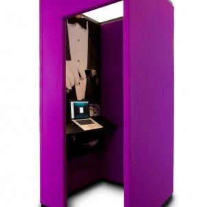 Losse belcel voor midden in de ruimte. Open kantoor? Toch rustig werken is mogelijk. www.kantoorinrichters.nl