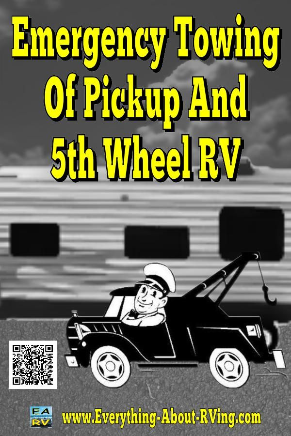 Here is our answer to: Emergency Towing Of Pickup And 5th Wheel RV.  Your tow vehicle and 5th Wheel Trailer can be safely towed together, but... Read More: http://www.everything-about-rving.com/emergency-towing-of-pickup-and-5th-wheel-rv.html HAPPY RVING! #rving #rv #camping #leisure #outdoors #rver #motorhome #travel