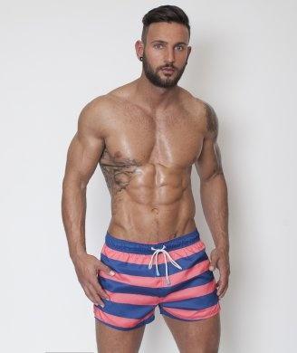 Oiler & Boiler Deck Stripe Tuckernuck Shortie Swim Short