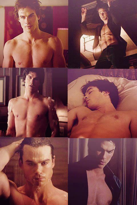 Ian Somerhalder as Damon Salvatore. this is one of those times where I dont know if I am in love with the character or the actor, so I choose both