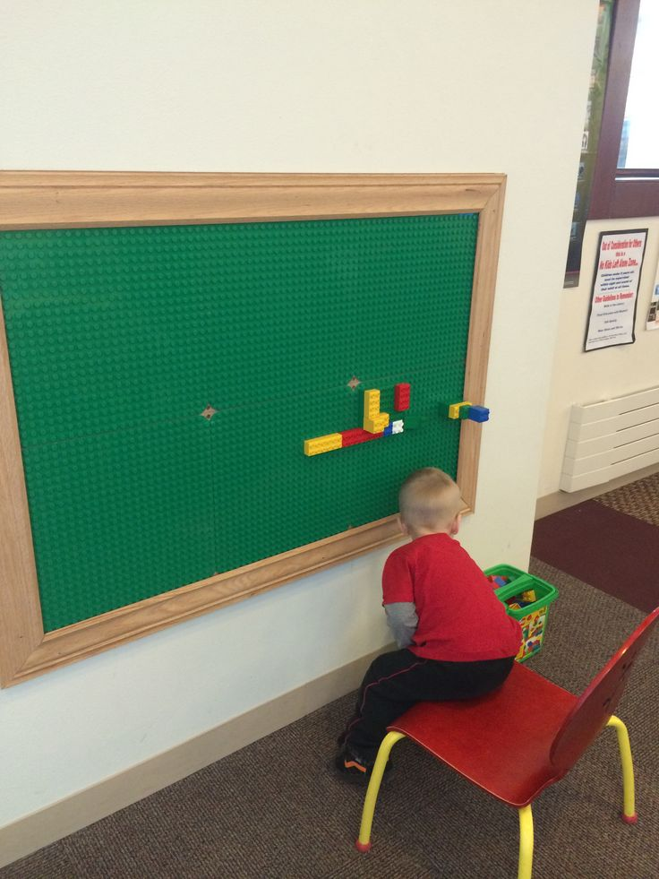 Little boys room project idea. Lego boards on the wall!