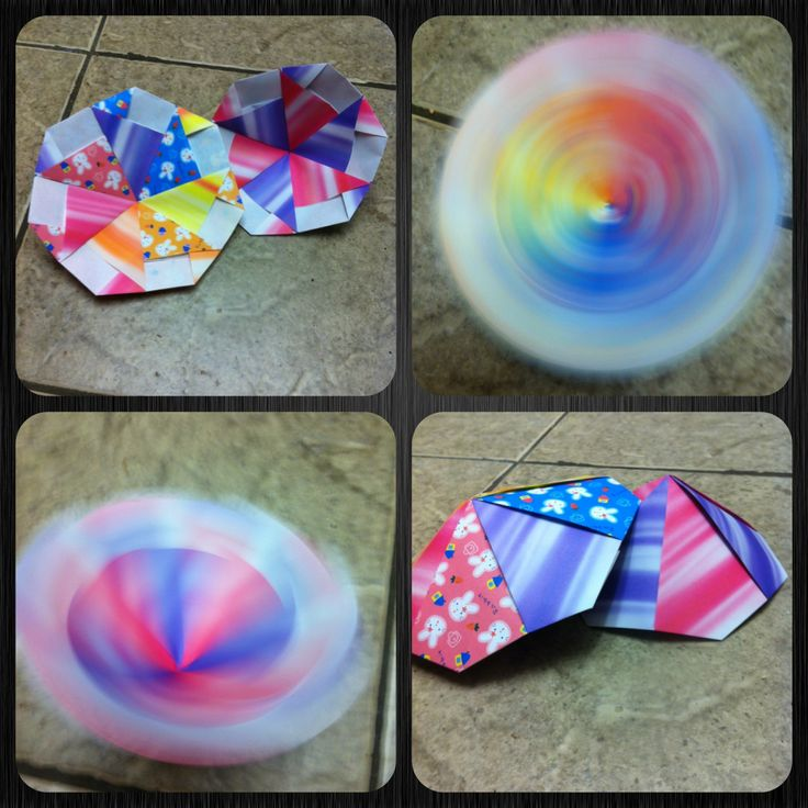 How to Make an Easy Modular Origami Spinning Disc/Top