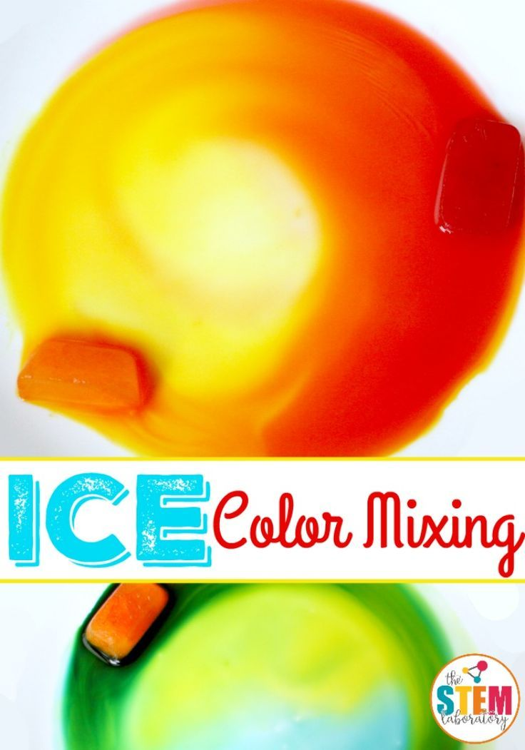 Awesome color mixing activity for preschool or kindergarten! Melt colored ice! So easy to set up. My kids will love this.