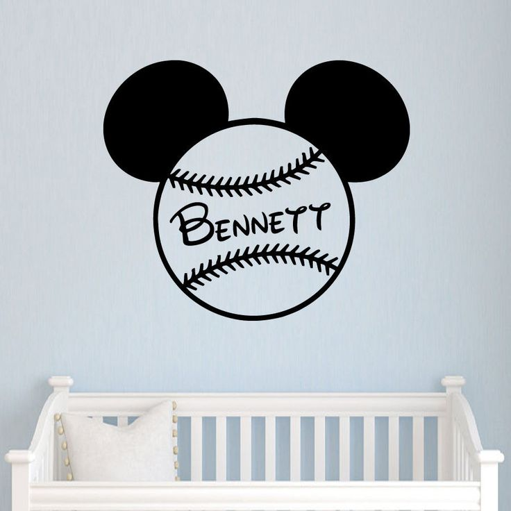 Wall Decals Name Mickey Mouse Bow Head Ears Vinyl Sticker Nursery Baseball  SM89. 17 Best ideas about Mickey Mouse Wall Decals on Pinterest   Mickey