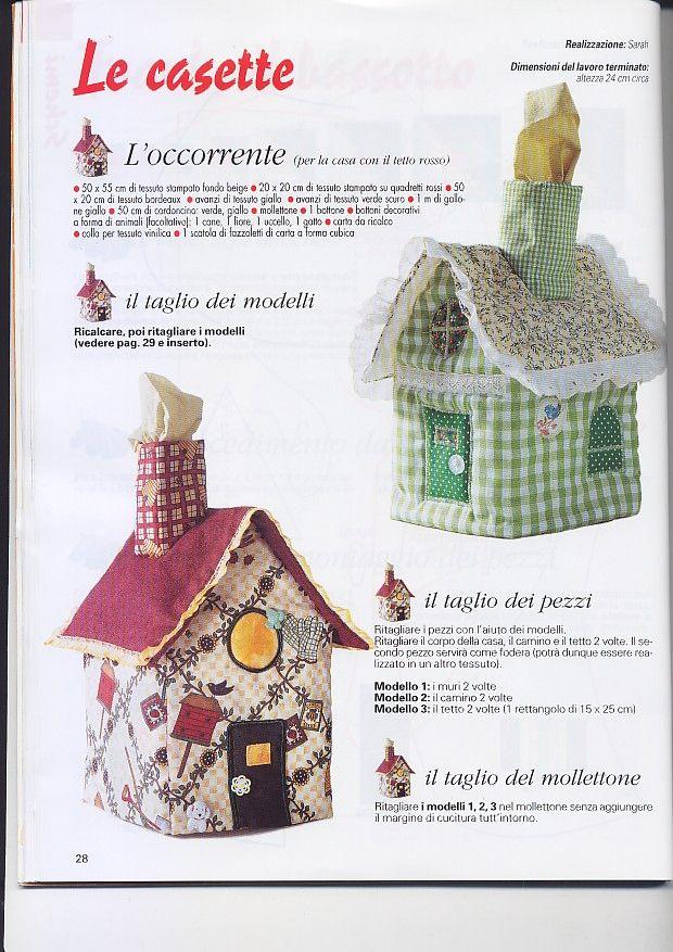 Las Monerías de la Encarna: Tutorial casita porta-pañuelos .... Tissue Box Pattern and Tutorial