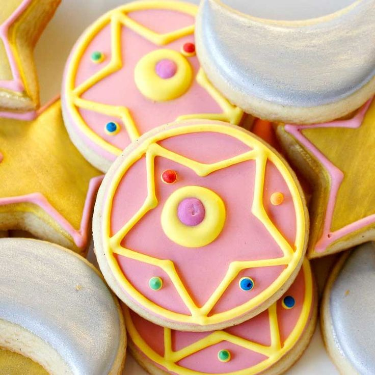 Sailor Moon Cookies #sailormoon