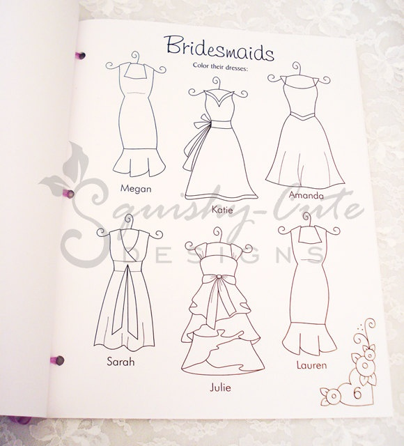 wedding coloring book - Personalized Wedding Coloring Book