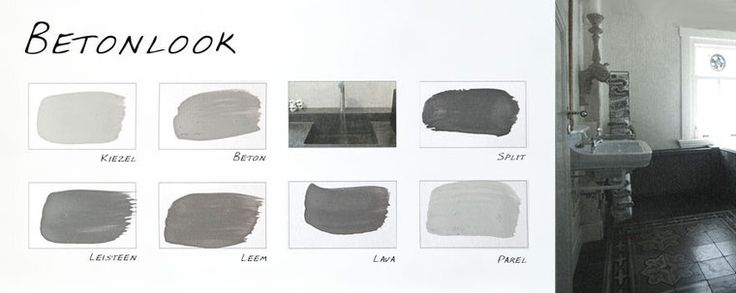Carte Colori handgeschilderde Kalkverf kleurenkaart Betonlook.