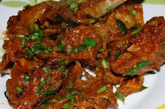 Dilpasand Mutton (Bhuna Gosht) recipe. A deliciously rich dish in which meat is slow cooked and simmered with loads of spices. Posted by Soniya A Khan.