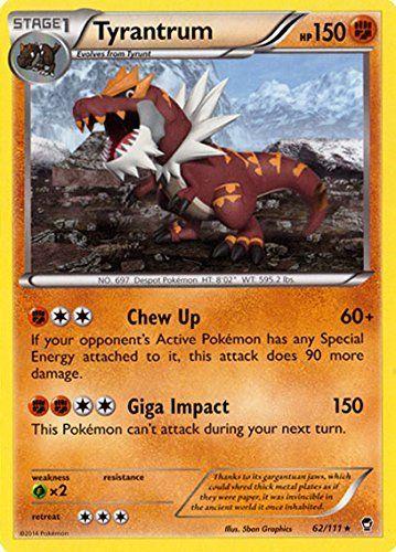 Pokemon - Tyrantrum (62/111) - XY Furious Fists Pokémon http://www.amazon.com/dp/B00MJFHBVK/ref=cm_sw_r_pi_dp_Qm80vb0XVZT4H