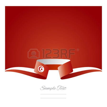 Abstract fondo de la bandera de T�nez cinta photo