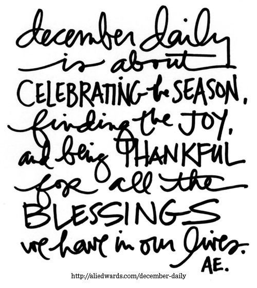 Ali Edwards | Blog: December Daily® 2014 | Let's Begin!