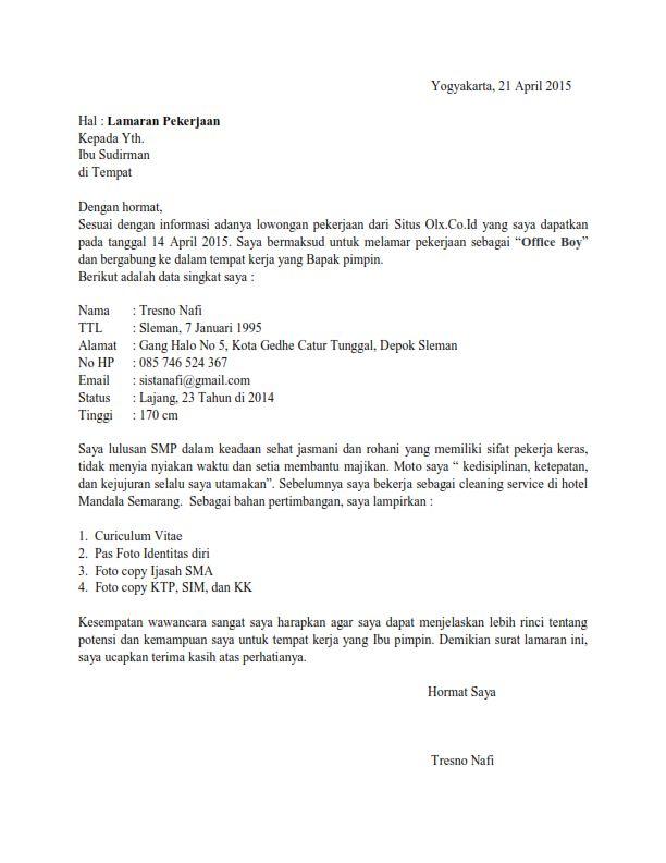 contoh surat lamaran kerja lulusan sma ben jobs contoh
