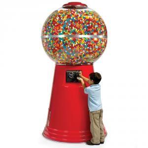 Distributeur géant de boules de chewing-gum