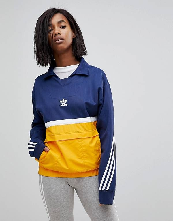 adidas originals nova veste color block à enfiler femme