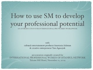 blast from the past! a #socialmedia for pro use presentation I did with my @GlobalNiche.net partner @Tara Agacayak in 2009