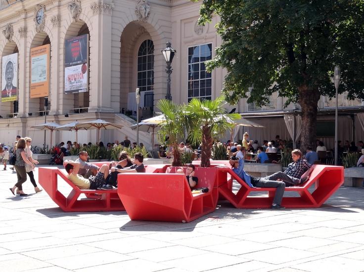 Enzo Street Couches In Museumplatz, Vienna, Austria. | Public Lounging |  Pinterest | Vienna Austria, Urban Design And Public Spaces