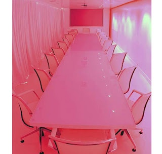 Pink conference room!