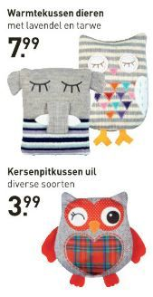 Deze leuke warmtekussens zijn te koop bij de Xenos. Bekijk de folder op Reclamefolder.nl.
