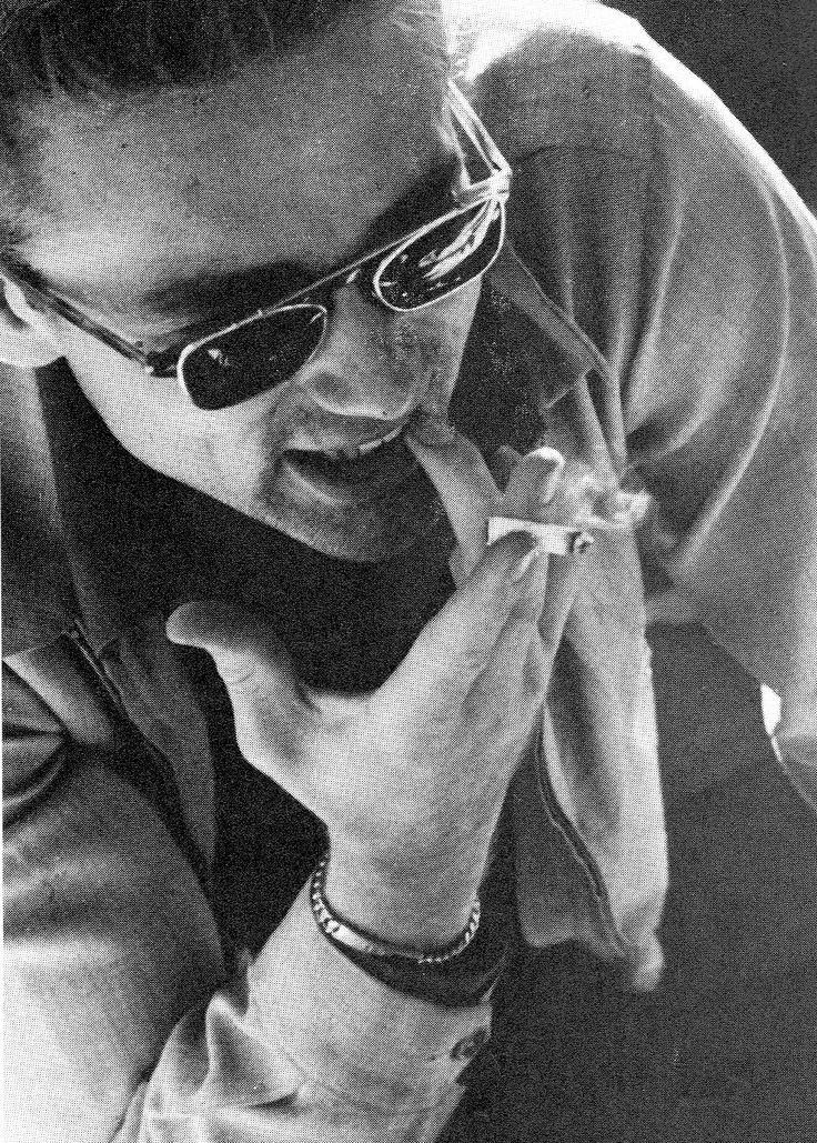 Did you know that James Dean's two front teeth were fake? He lost them in a trapeze stunt in his uncles farm when he was younger, but he claimed to have lost them in a motorcycle accident. He enjoyed shocking people by casually dropping his false teeth in his glass when drinking water.