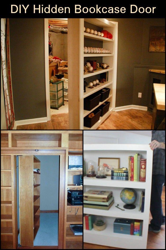 Diy Hidden Bookcase Door Bookcase Door Secret Rooms Bookcase