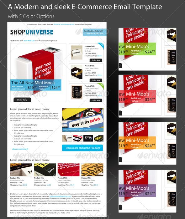 A Modern and sleek E-Commerce Email Template PSD