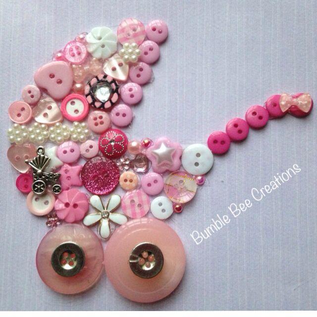 Cute little pram button art
